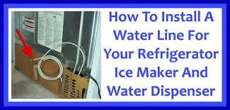 How to install a refrigerator water line