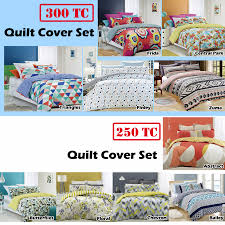 renee taylor 100 cotton quilt duvet cover set double queen king super king
