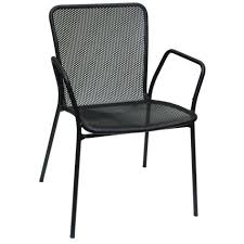 mesh patio chairs awesome stackable outdoor dining the home depot intended for 19