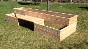 bench built in raised bed garden raised garden bed kits with a bench