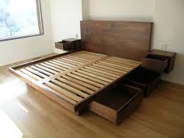 diy platform bed frame with drawers