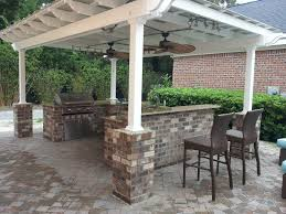 patio with fire pit and pergola. Vinyl Pergola Kit Fixed Canopy Over Kitchen South Carolina Small Outdoor Kitchens Full With Firepit Patio Fire Pit And I