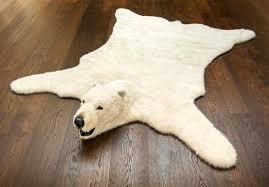 top faux bear rug n7534324 fluffy polar bear rug faux bear skin rug with head