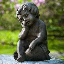 children garden statues. Outdoor Children Garden Statues Child Resting Statue After Working So Hard In The D
