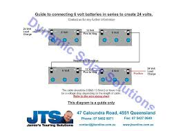 jamies 12 volt camper wiring diagrams 6volt batteries in series to create 24 volt connecting