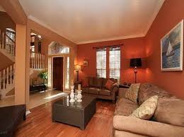 burnt orange and brown living room. Fancy Paint For Living Room Using Burnt Orange Color And Brown L