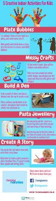 indoor activities for kids. 5 Creative Indoor Activities For Kids Infographic