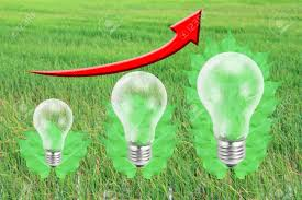 New Leaf Light Bulbs Future Eco Energy Saving Concept New Alternative Natural Green