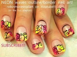 Robin Moses Nail Art: neon nails, neon pink nails, outline/border ...