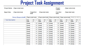 project task assignment word template microsoft project  project task assignment word template