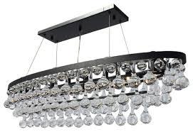 celeste 8 light oval glass drop chandelier black