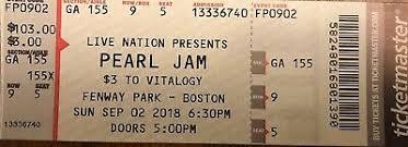 Pearl Jam Fenway 300 00 Picclick