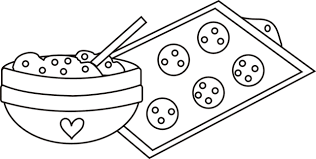 Small Picture Cookie Dough Mixing Bowl Cookies Sheet Coloring Page Bebo Pandco