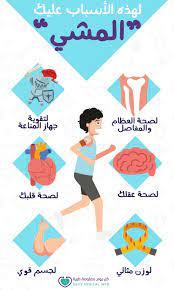 فوائد المشى لصحتك .. ما هى؟ وأهم 6 أسباب لممارسة تلك الرياضة - كل يوم  معلومة طبية
