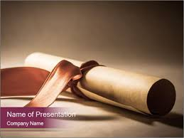 Scroll Powerpoint Template A Parchment Diploma Scroll Powerpoint Template Infographics Slides