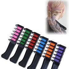 Temporary Hair Color Chalk Comb Set