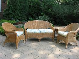 appealing wicker chair cushions on cozy unilock pavers for outdoor furniture design