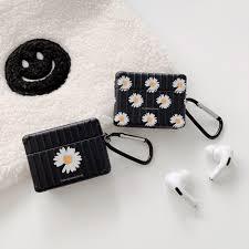 Vỏ Bảo Vệ Hộp Sạc Tai Nghe Airpods 1 2 Pro Apple Hình Hoa Cúc Nhỏ Kiểu Hàn  Quốc Sáng Tạo - Đệm và Nút Tai Nghe