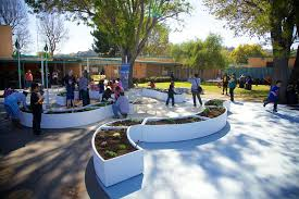 big green learning garden installation at dominguez high school on tuesday february 24 2016 in compton calif 2016 patrick t fallon for big green