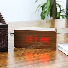 benchmart multi function qi wireless charger wooden led alarm clock with control silent