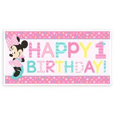 1st birthday banner minnie mouse 1st birthday banner shopdisney