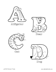 Coloring pages holidays nature worksheets color online kids games. Printable Coloring Pages Uppercase Letters Animals Alphabetimals