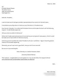 Letter Asking For A Reference Asking President Obama For A Letter Of Reference