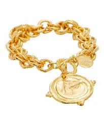 24k gold plated horseshoe horse head chain bracelet