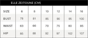 Dresses Size Chart Vivid Dresses