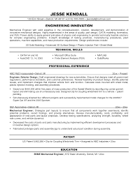 Hvachanical Engineer Sample Resume Physical Design Word Format