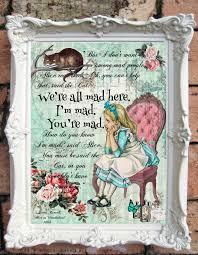 Alice In Wonderland Decoration Alice In Wonderland Decor Alice In Wonderland Quote Art Print