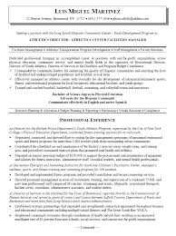 Middle School Resume