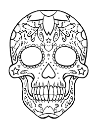 Small Picture Skull Coloring Pages