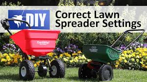 How To Use A Spreader Correct Lawn Spreader Settings Domyown Com