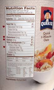 quaker oatmeal label neily