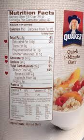 quaker oatmeal label neily