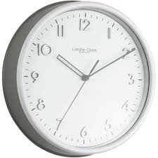 grey kitchen wall clock 25 5cm