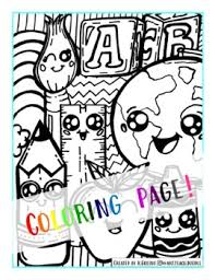 Kawaii coloring creations is a compilations of some amazing artist drawing kawaii style art. Kawaii Coloring Page School Supplies By Art Teach Doodle Tpt