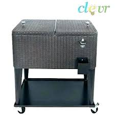 patio ice chest outdoor coolers cooler cart rolling qt beverage