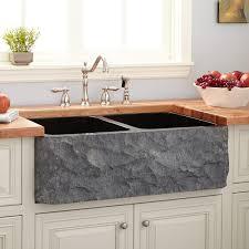 Granite Double Bowl Kitchen Sink 33 Polished Granite Double Bowl Farmhouse Sink Chiseled Apron