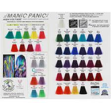 Manic Panic Blue Color Chart Manic Panic High Voltage Tuft Color Chart Hair Health Beauty