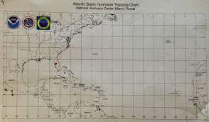 Atlantic Basin Hurricane Tracking Chart National Hurricane Center Miami Florida Hurry Cane Stories Sound Safari