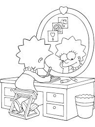 Simpsons Coloring Pages Coloringpages1001com