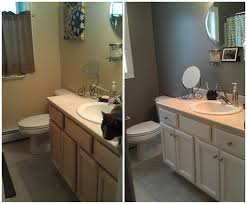 outstanding doit your shelf repainted neutral oak wood vanity to white painting bathroom cabinets as inspiring remodelling bath ideas