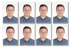 Le D'un Sérieux Photo isolated Pour D'identité Homme D'identification Carte Passeport