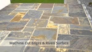 rustic slate patio slabs