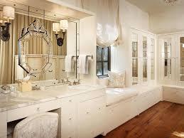 makeup vanity with mirror on top of sink combination