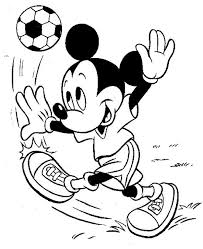 Mickey Mouse Playing Soccer Coloring Page Soccer Coloring Pages