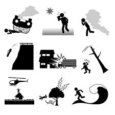 事故災害シンプルイラストフリー素材