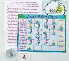 Mermaids Potty Chart Personalized Fully Assembled Toilet Training Reward Chart Sticker Chart Potty Chart 30 Reusable Stickers Laminated